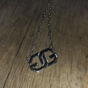 Vintage Silver GG Givenchy signature necklace